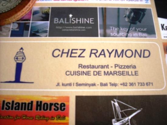 Chez Raymond: Restaurant details