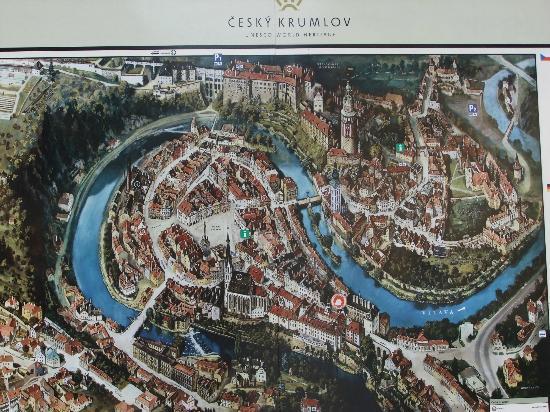 Historic Center of Cesky Krumlov : 観光用の看板