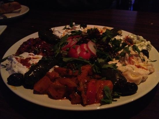 Ottoman Cuisine: Generous and tasty mixed starter enjoyed by 3 of us