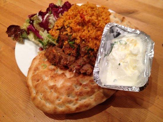 Ottoman Cuisine: Takeaway Adana Kofte (Lamb). Very nice.