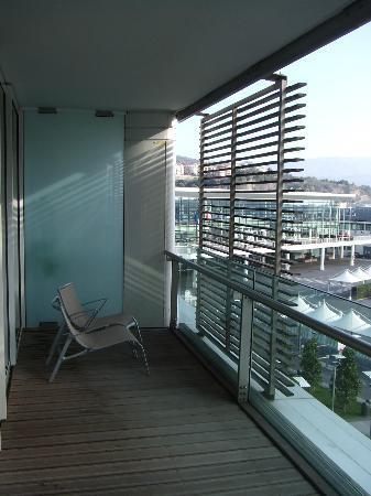 NH Savona Darsena: Balcony (and Cruise Passenger Terminal behind)
