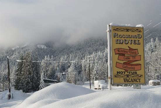 Rossland Motel Winter Wonderland