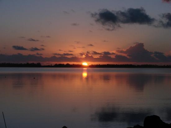 Bora Vaite Lodge : le lever du soleil chez Alain