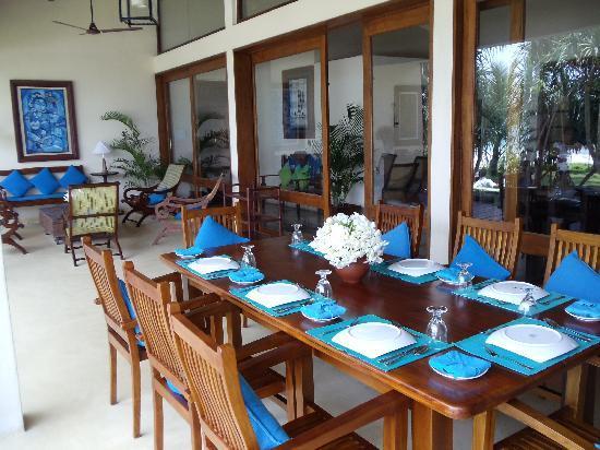 South Point Villa : Sotuh Point Villa dining on the veranda