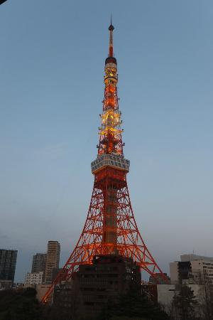 Tokyo Prince Hotel: Tokyo Tower from our room