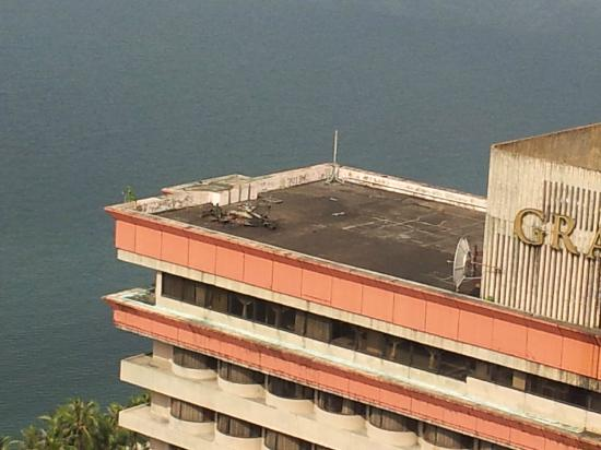 Baywatch Tower Manila: the view from the balcony of the abandon hotel other side