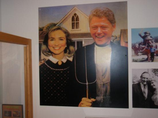 Shiloh Museum of Ozark History: funny picture of the Clinton's