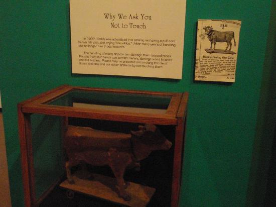 Shiloh Museum of Ozark History: Old toy cow cost $1.29