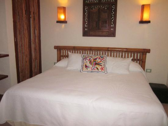 Casa Ixchel: Bedroom has a king bed with lots of closet space