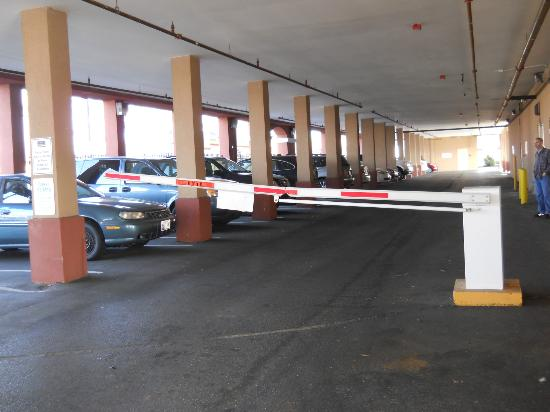 Holiday Inn Express Baltimore at the Stadiums : Secure parking area accessd with room key