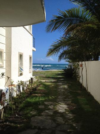 Porta Del Mare: 1st floor, One bedroom entrance to the pool and beach