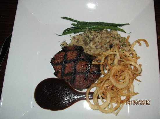 Blue Orchid : Rib Eye Steak marinated in Guiness