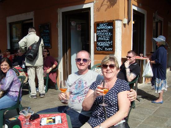 Hotel Antiche Figure: Having a Spritz on Burano