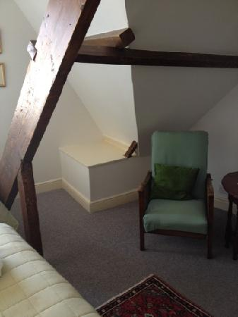 Glencree House: Wonderful Beams and reading chair