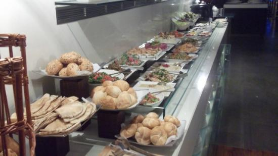 Centro Sharjah: bread and salad