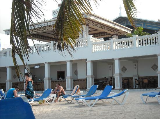 Hotel Riu Ocho Rios: The SeaGrape, Our Favorite Beach Bar. Plenty Of Chairs