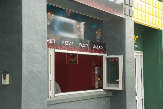 Nice open windows into Hell Pizza