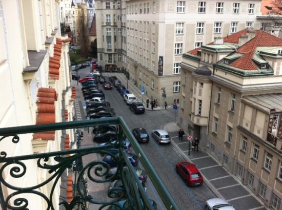 Residence Brehova - Prague City Apartments : View from the apartment's cool balcony