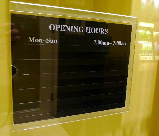 starbucks 7am to 3am opening hours excellent