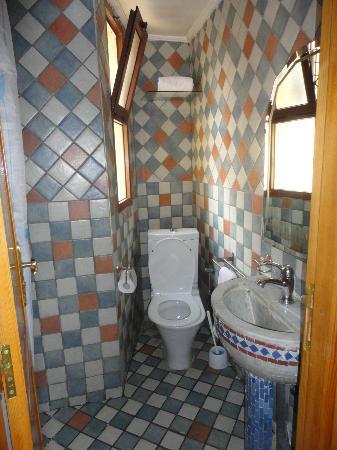 Hotel Jnane Sbile: sauber, aber winziges Badezimmer