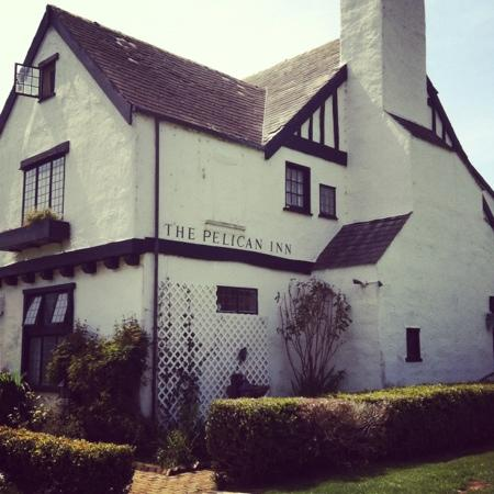 The Pelican Inn Restaurant: view from the lawn