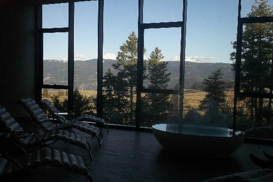 Sparkling Hill Resort: tea room in the spa
