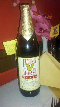 Balti Tandoori Indian Restaurant: Flying Horse beer