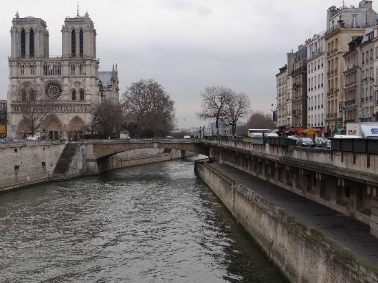 Les Rives De Notre Dame: View down the Seine toward ND; LRDND is just out of pic on right