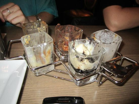 Milestones Grill + Bar: Dessert shot sampler - gone!