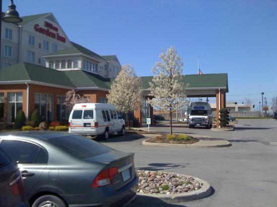 Hilton Garden Inn Buffalo Airport : Trees starting to blossom
