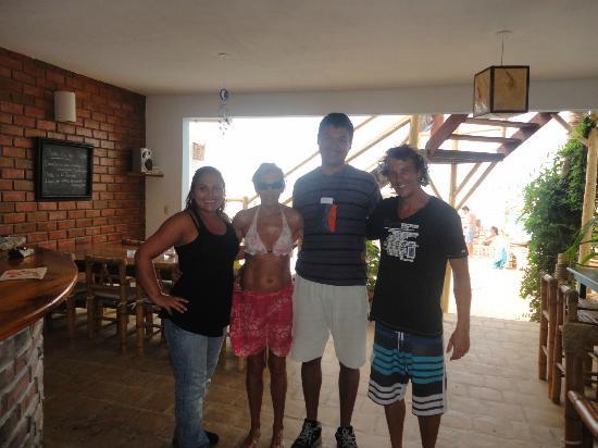 Claro de Luna Hotel: con Lautaro y mama