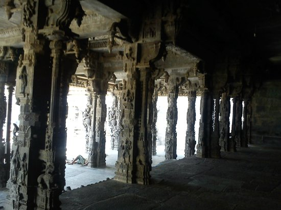 Vellore, Indien: A glimpse of the fort temple carvings