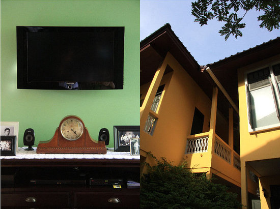 Baan Pra Nond Bed & Breakfast: Living room & the exterior