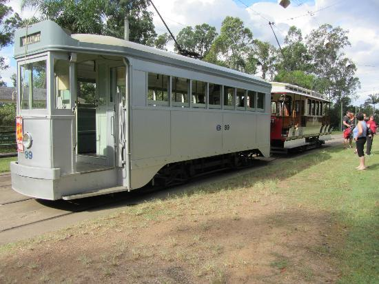 Brisbane Tramway Museum: 2 of the trams