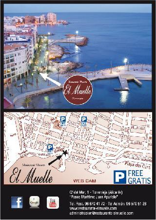 Restaurante Muelle: Parking GRATIS-FREEE