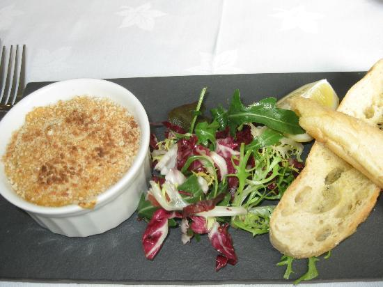 The Restaurant - Seaview Hotel: hot crab ramekin starter