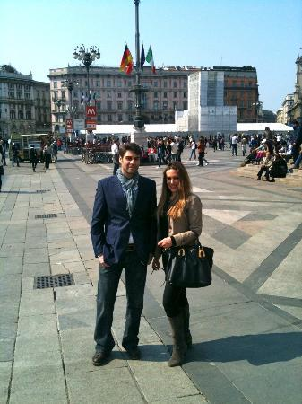 Tours of Milan Private Tours: Piazza Duomo with my tour guide, Alice.
