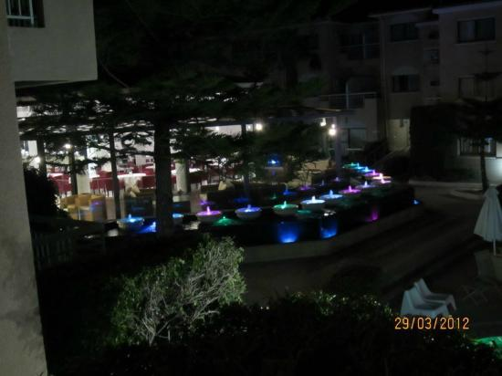 The King Jason Paphos: Night View of Restaurant
