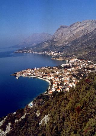 Gradac, Kroasia: View from mountain ...