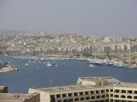The Phoenicia Malta: view from open bedroom window