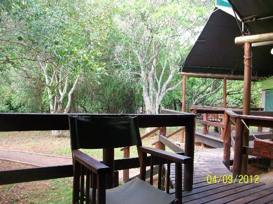 Falaza Game Park & Spa: morning deck