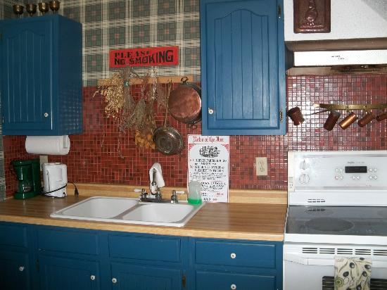Park Place Bed & Breakfast: kitchen in the carriage house suite