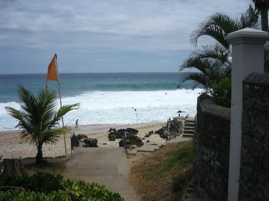 Residence Les Boucaniers: vue sur plage de la terrasse