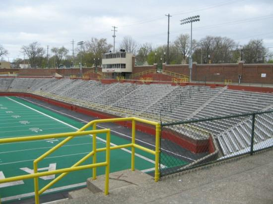 Atwood Stadium: Atwood Press Box and main stands