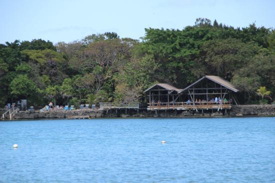 Half Moon Resort: Restaurant Deck, Half Moon Bay Cabins