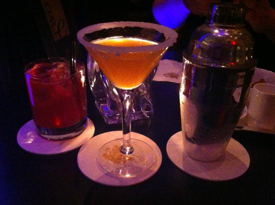 Two E Bar & Lounge: A sidecar and a specialty version of a margarita, both excellent.