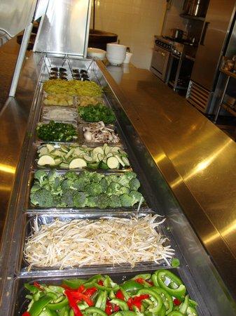 The Mongolian Grill: Plenty of Fresh Veggies!