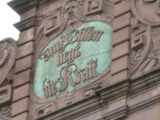 Hotel Restaurant Graf Zeppelin: Interessanter Turmspruch