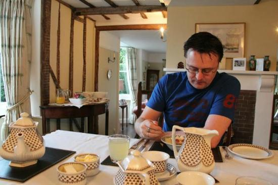 The Mill House: Enjoying his breakfast...