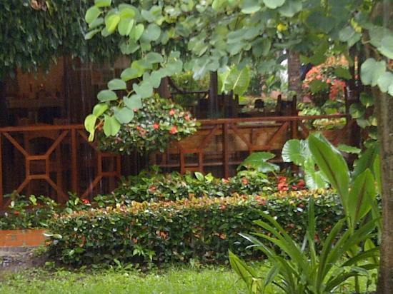 Hotel Escape Caribeno : AREA DEL COMEDOR, UN  RACHO PARA DESAYUNAR...